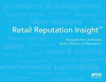 Retail Reputation - APCO Worldwide