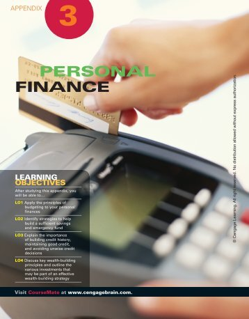 PERSONAL FINANCE - Cengage Learning
