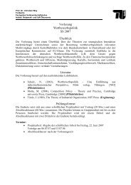 Vorlesungsaufbau inkl. Themenübersicht - TU Berlin