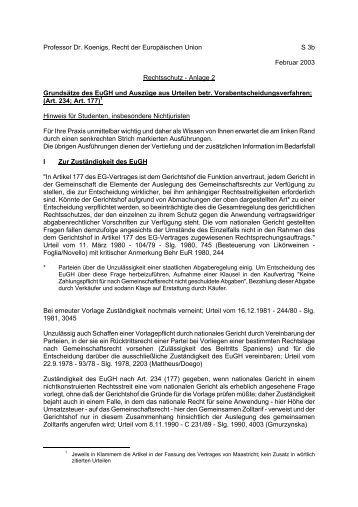 Professor Dr. Koenigs, Recht der Europäischen Union S 3b Februar ...