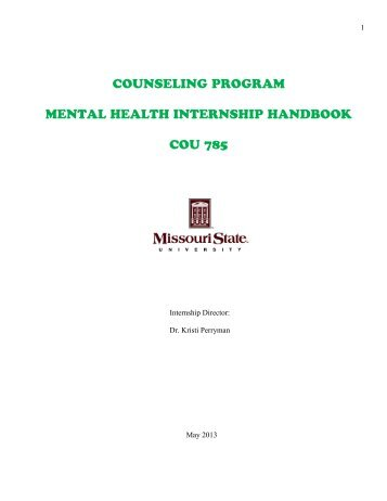Mental Health Counseling Concentration Practicum Internship