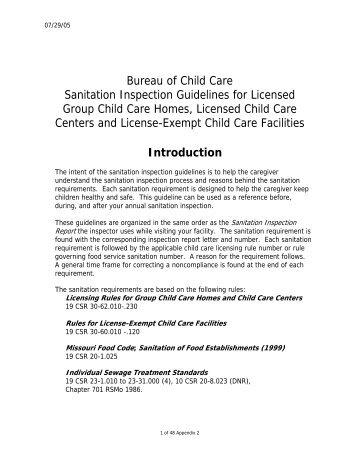 Vermont Child Care Licensing Regulations