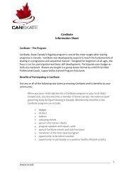 CanSkate Information Sheet - Skate Canada