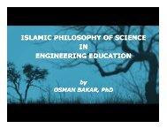 islamic philosophy of science in engineering education - Epistemology