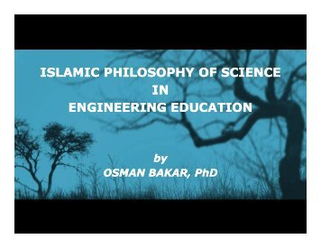 islamic philosophy of science in engineering education - Epistemology