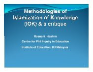 Rosnani Hashim Centre for Phil Inquiry in Education ... - Epistemology