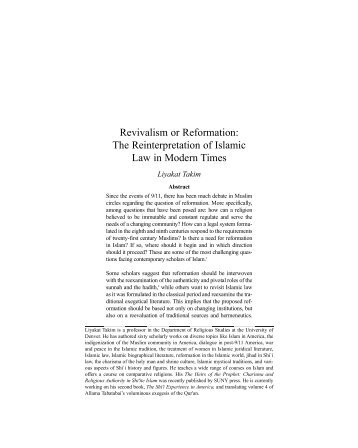 Revivalism or Reformation: The Reinterpretation of ... - I-Epistemology