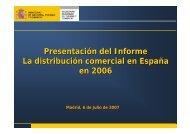 Presentación del Informe La distribución comercial en España en ...