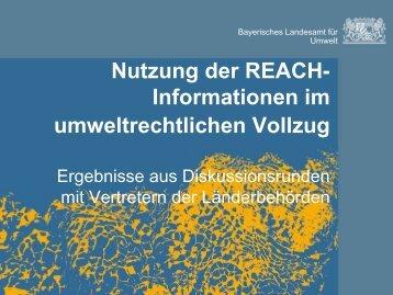 Vortrag von Dr. Felix Geldsetzer - REACh