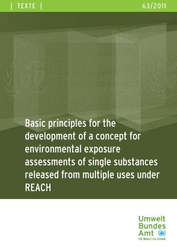 Basic principles for the development of a concept for ... - REACh