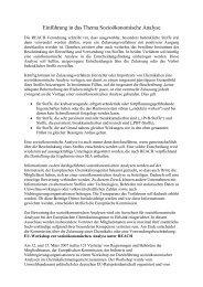 Einführung in das Thema Sozioökonomische Analyse - REACh