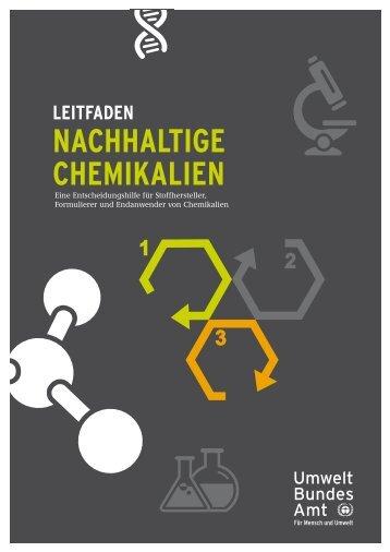 Leitfaden Nachhaltige Chemikalien - Umweltbundesamt