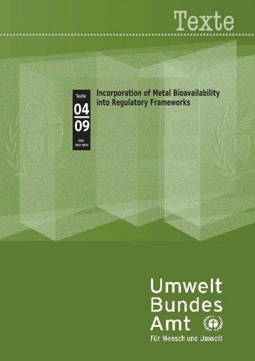Texte 04/2009 - Umweltbundesamt