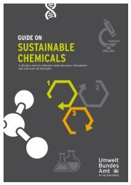 Guide on Sustainable Chemicals - Umweltbundesamt