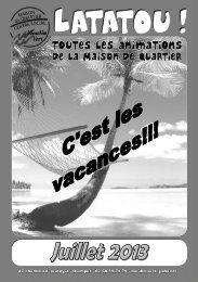 Latatou juillet 2013.pdf - Maison de Quartier Moulin Vert