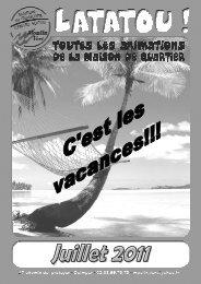 Prog juillet 2011.pdf - Maison de Quartier Moulin Vert