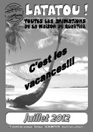 Prog juillet 2012.pdf - Maison de Quartier Moulin Vert