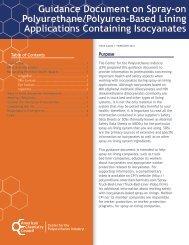 Guidance Document on Spray-on Polyurethane/Polyurea-Based ...