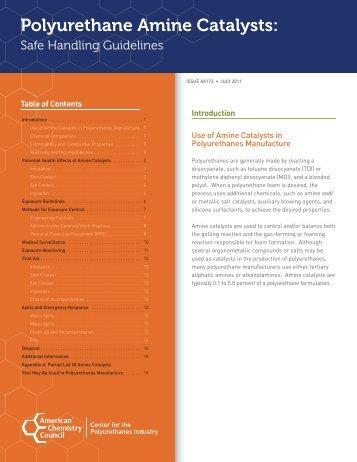 Polyurethane Amine Catalysts - Polyurethanes - American ...