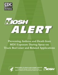 NISOH Alert: Preventing Asthma and Death from ... - Polyurethanes