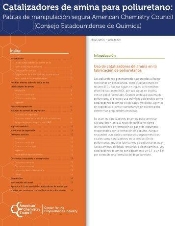Catalizadores de amina para poliuretano - Polyurethanes ...