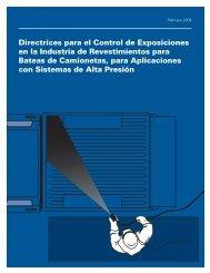 Directrices para el Control de Exposiciones en la Industria de ...