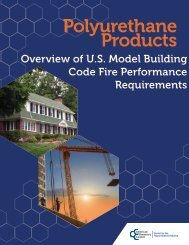 Polyurethane Products: Overview of U.S. Model Building Code Fire ...