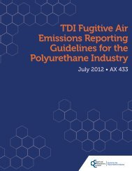 TDI Fugitive Air Emissions Reporting Guidelines for ... - Polyurethanes