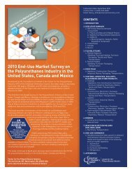 2010 End-Use Market Survey on the Polyurethanes Industry in the ...