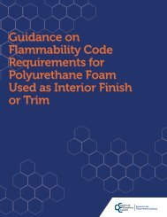 Guidance on Flammability Code Requirements for Polyurethane ...