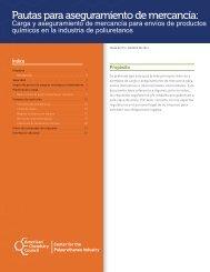 Pautas para aseguramiento de mercancía: Carga y ... - Polyurethanes