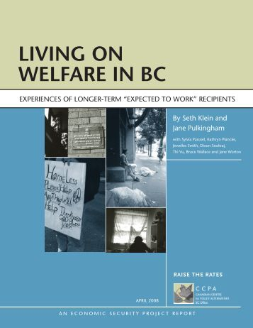 Living on WeLfare in BC - Canadian Centre for Policy Alternatives