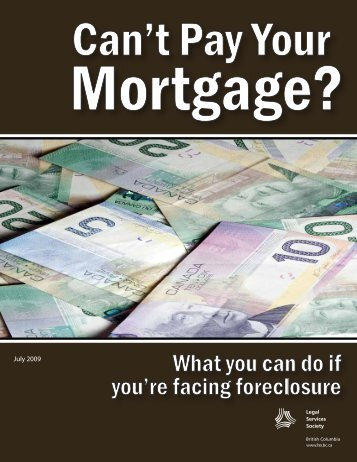 Can't Pay Your Mortgage? What You Can Do If You're ... - Intraspec