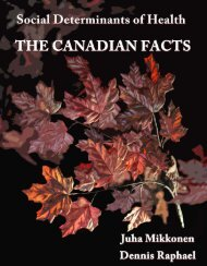 Social Determinants of Health: The Canadian Facts - YWCA Canada