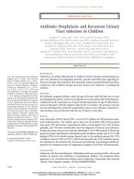 Antibiotic prophylaxis in VUR - Pediatrics House Staff