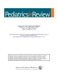 Article 5 Approach to Acute Limb Pain in Childhood - Pediatrics ...