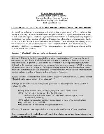 pediatric urinary tract infection guidelines pdf