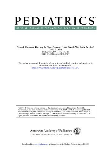 Endocrinology Article: Growth Hormone Therapy for Short Stature