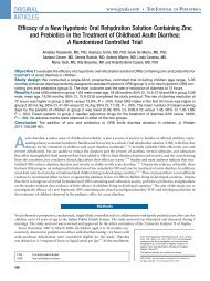 Efficacy of a New Hypotonic Oral Rehydration Solution Containing ...