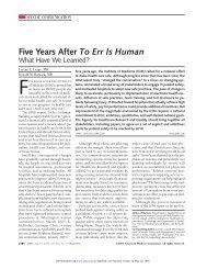 Five Years After To Err Is Human - Pediatrics House Staff