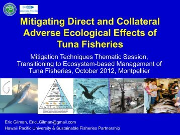 Bycatch - Towards ecosystem-based management of tuna fisheries