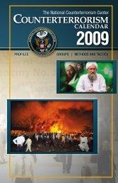 Counterterrorism Calendar 2009 - University of Oregon