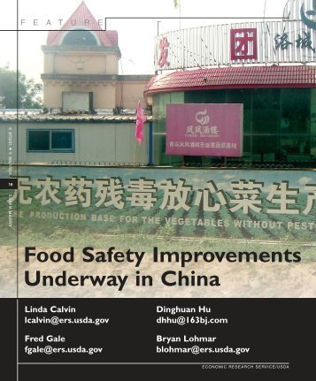 Food Safety Improvements Underway in China - Library