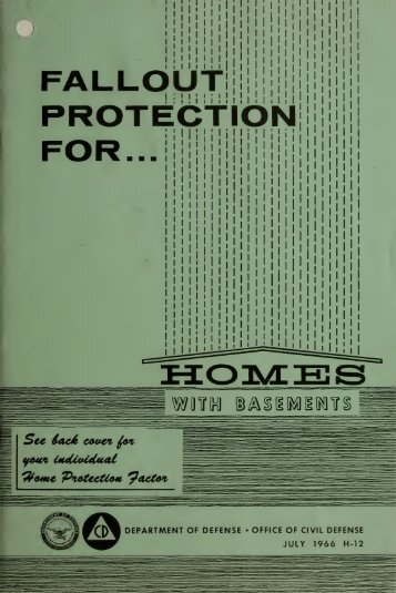 Fallout Protection for Homes with Basements (1966)