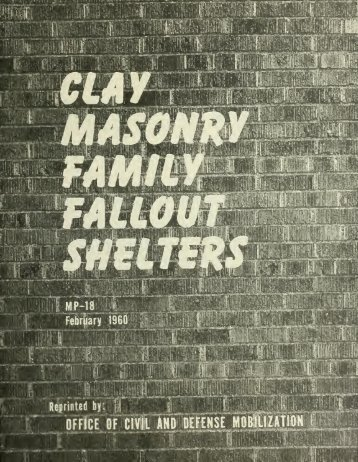 Clay masonry family fallout shelters