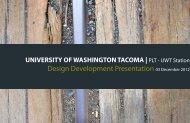 Design Development - University of Washington
