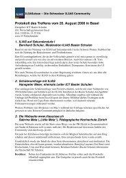 Protokoll des Treffens vom 26. August 2008 in Basel - ILIASuisse