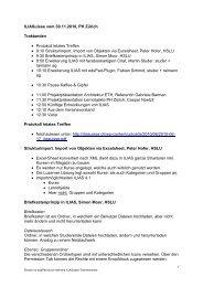 ILIASuisse vom 30.11.2010, PH Zürich Traktanden • Protokoll letztes ...