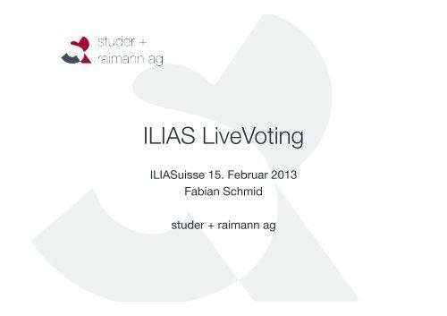 Live Voting - ILIASuisse