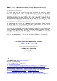 Offener Brief - Der AmSeL-Gedanke Plus = Gemeinschaft